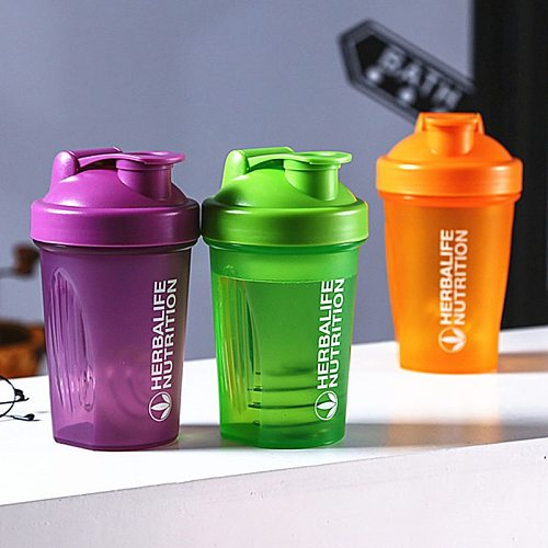 Outdoor Portable Plastic Drinking Bottle Sports Shaker Bottle 400 Ml Whey Protein Powder Mixing Bottle Sports Fitness Gym Bottle