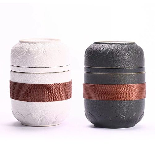 Chinese Kung Fu Tea Set Travel Ceramic Pottery Tea Cups With Storage Bag For Teaware Outdoor Tea Cups Of Tea Ceremony High Grade