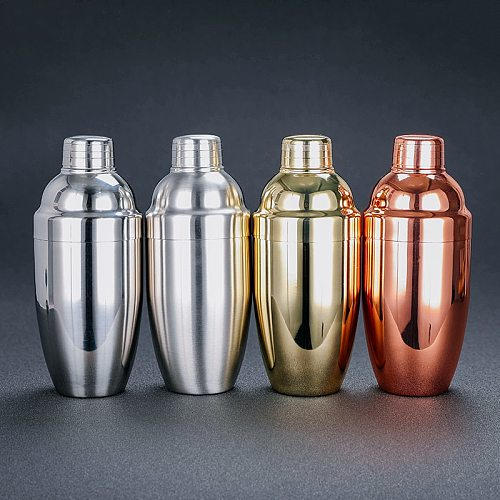 500ml  Stainless Steel 3-Pieces Cocktail Shaker Cobbler Shaker