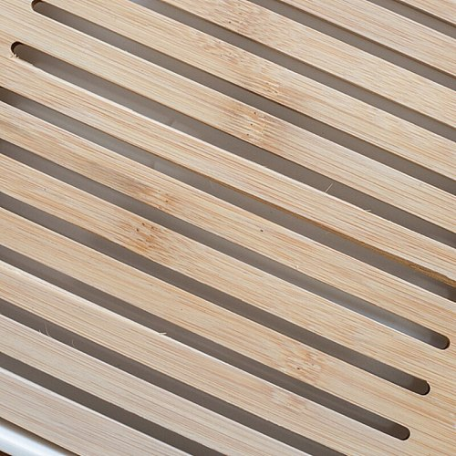 Square Simple Dry Soak Tea Tray Eco-Friendly Wooden Drainage Water Storage Board P0RD