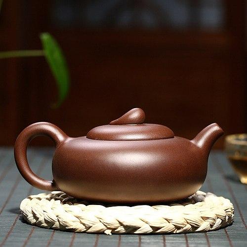 Yixing Purple Clay Teapot Chinese Handmade Kung Fu Zisha Tet Set Teaware 260ml Free Shipping