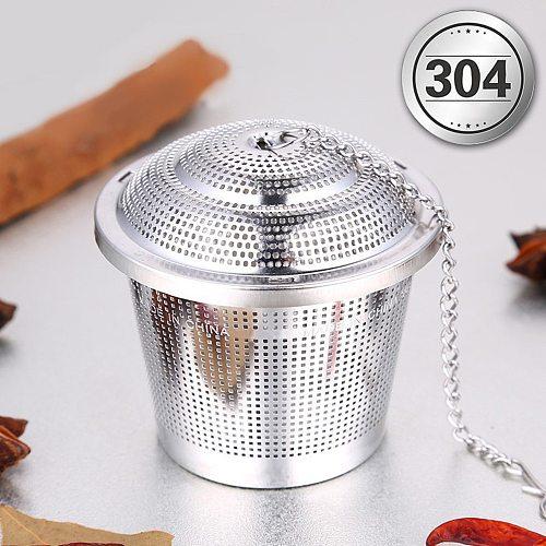 S/M/L/XL Tea Strainer 304 Stainless Steel Brine Ball Soup Seasoning Ball Tea Strainer Tea Ball Filter Spice Kitchen Gadgets