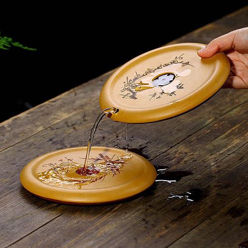 Yixing Purple Clay Teapot Trivets Dry Tea Tray Creative Kettle Base