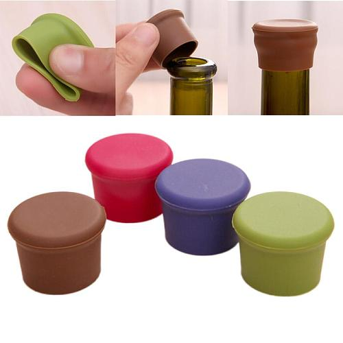 New Silicone Wine Stopper Leak Free Wine Bottle Cap Fresh Keeping Sealers Beer Beverage Champagne Closures For Bar Accessories