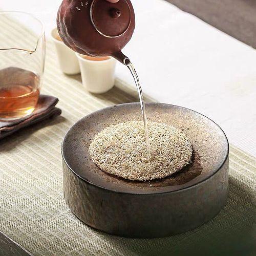 LUWU traditional ceramic teapot trivets round teapot holders porcelain tea pot base accessories