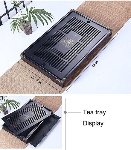 High Quality Chinese style balck Tea Tray,Tea table 54X32.5cm Natural Wood Tea Tray cultural  Bamboo Puer black Tea Tray