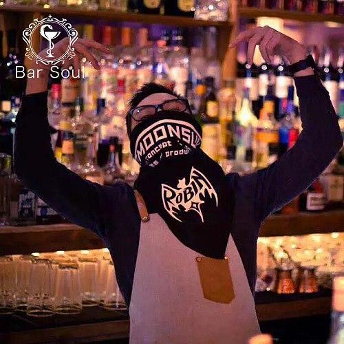 Bar Soul Designed Girdle Creative Bartender Face Towel Bartending Performance Cocktail Master Cool Scarf Bartender Trinket