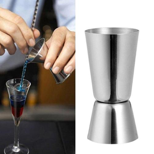 25/50ml Bar Measure Steel Double Single Shot Bar Safety Material Measure Cup Drink Jigger Spirit Food Cocktail W0R1