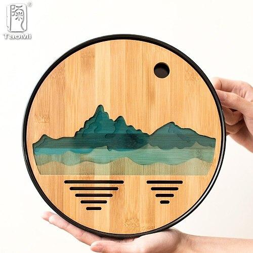 Plastics and Bamboo Tea Trays Tea Table Handmade Serving Tray Kung Fu Tea Accessories  MJ72005