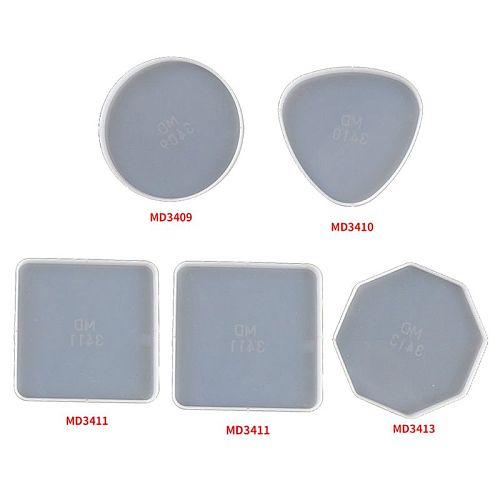 Irregular Coasters Epoxy Resin Mold Silicone Tray Fluids Artist Mold Tea Mat Make Your Own Tray Coaster Resin Mold Kit G8TB