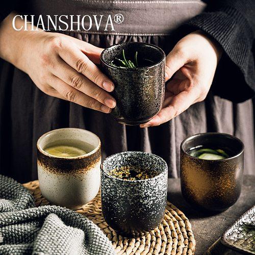 CHANSHOVA 150/200ml Chinese retro Style Handmade High Temperature Firing Ceramic teacup Porcelain Coffee Cups mug H235