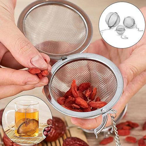 Factory Strainer Basket Tea Diffuser 4 Size Stainless Steel Infuser Portable Tea Filter Strainer Ball Gadget for Spice Tea
