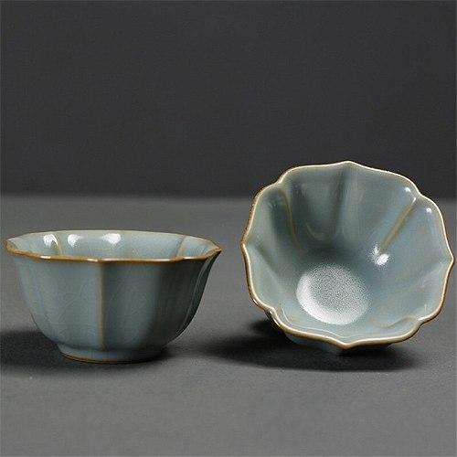Ceramic Simple Teacup Creative Porcelain Ice Cracked Glaze Kung Fu Master Cup Household Water Mug Chinese Tea Set Drinkware