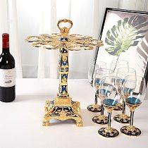 New European fashion creative retro wine glass rack wine glass rack set KTV bar home furnishings wine holder  wine glass