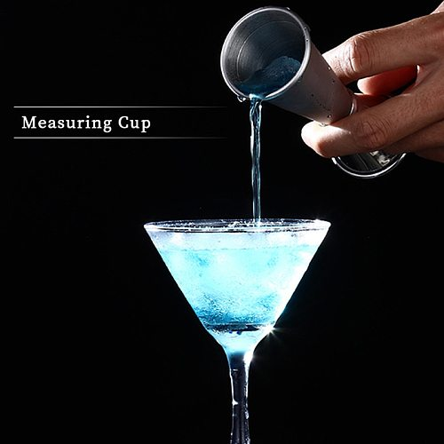 30/60ml Premium Stainless Steel Measuring Cups Party Wine Cocktail Shaker Double Tone Jigger Shot Drinks Rectification Mixed