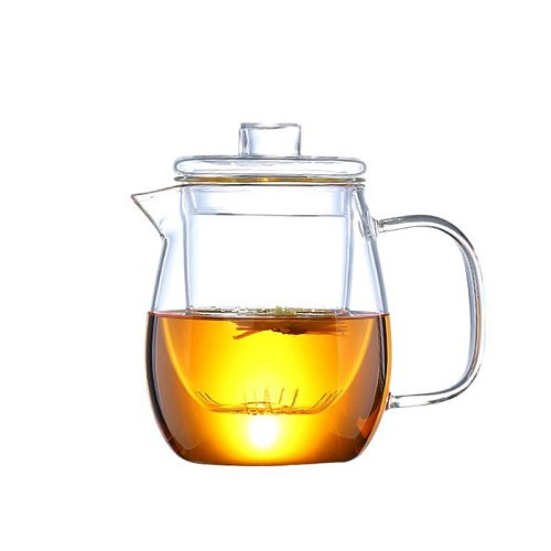 1200ml Glass Teapot with Removable Infuser Safe Tea Kettle Can Be Heated Flowering Tea Filter Blooming Loose Leaf Tea Maker Set