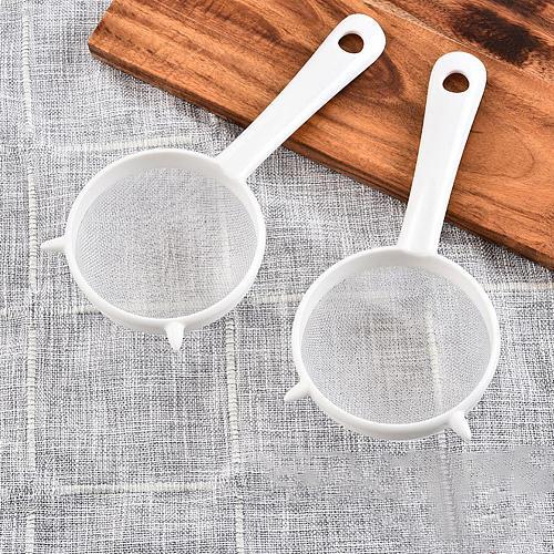Handheld Plastic Screen Mesh Tea Leaf Strainer Fried Fine Mesh filter Sieve Colander Home DIY Kitchen Accessories And Gadgets