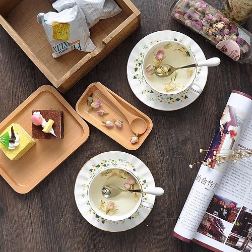 Creative Ceramic Coffee Cups And Saucer Bone China Porcelain Teacup Afternoon Espresso Cafe Tea Party Home Drinking Teaware