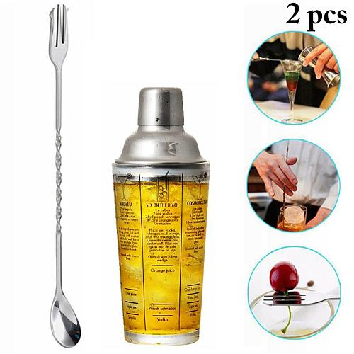 Cocktail Shaker 350ml Glass Stainless Steel Wine Martini Boston Shaker Mixer For Bar Party Bartender Tools Bar Accessories