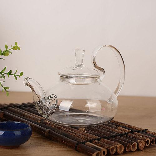 Kettle Teapot Economic Heat Resistant Glass Tea Utensils Kitchen Home Coffee Servers Tea Pot Fruit Juice Strainer Drinks Water