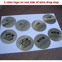 Customized LOGO Printed On Wine Pourer Drop Stop Pouring Disc Wine Pourer Wine Set Promotion Gift Bar accessories