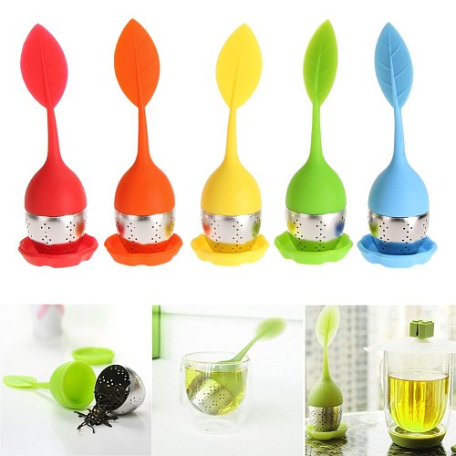 Strawberry Tea Infuser Stainless Steel Tea Ball Leaf Tea Strainer for Brewing Device Herbal Spice Filter Kitchen Tools