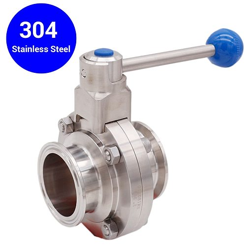 2 Tri-clamp Bufferfly Valve Pull Trigger 304 Stainless Steel 64mm OD Homebrew Tri Clover Fitting, Beer Hardware