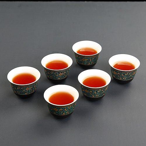 4 pcs/lot Chinese Retro Ceramics Teacup Exquisite Vintage flower pattern single cup Tea bowl Tea Cup Teaware accessories