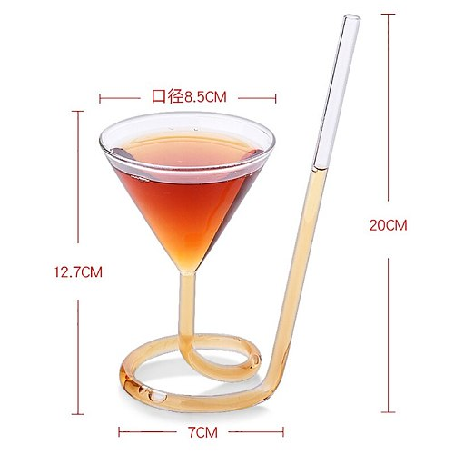 Cocktail Cup Creative Rotary Martini Vampire Cup Wine Glass Long Tail Glass Molecular Wine Glass