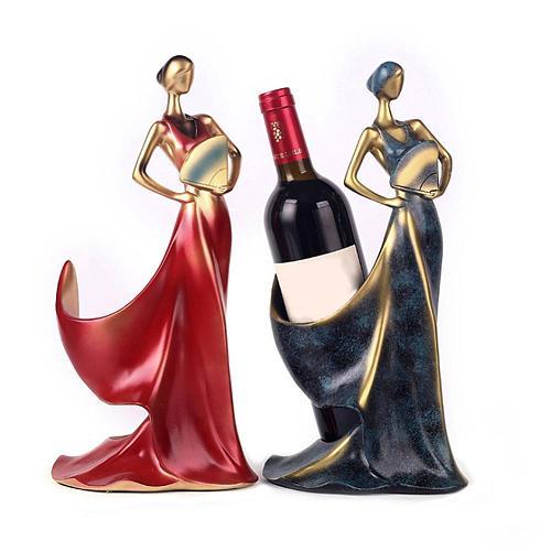 Beauty Girl Model Wine Rack Whisky Holder Shelf Bottle Rack Practical Sculpture Stand Home Decoration Accessories Miniatures