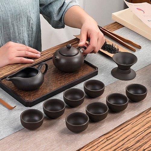 2021 New Teaware Purple Clay Tea Set Ceramic Travel House Kung Fu Tea Ceremony Set Tea Set Porcelain