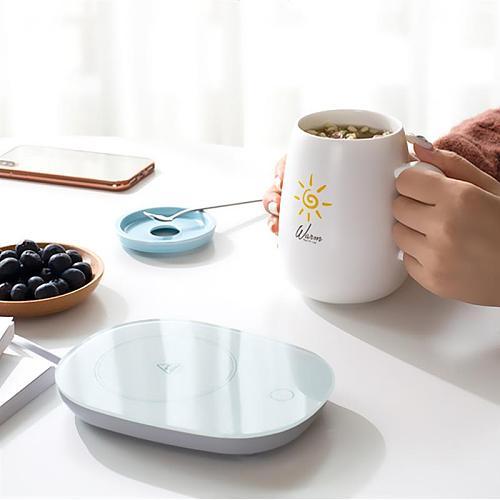 110V/220V/50Hz Electric Cup Mug Milk Tea Coffee Drink Warmer Heater Tray Mat Gravity Sensor US/UK/AU/EU Plug