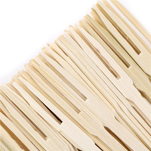 80PCS/200PCS Pure bamboo Disposable Wooden fruit fork Dessert Cocktail Fork Set Party Home Household Decor Tableware supplies