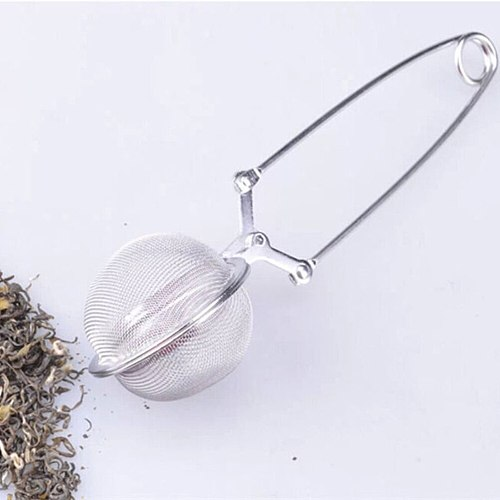 Diameter 5CM(2 ) Convenient Stainless Steel Handle Tea Mesh Ball Filter Stable Tea Strainer Strong Tea Infuser