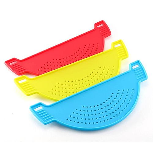 Food Oil Drainer Silicone Pot Pan Bowl Funnel Strainer Kitchen Rice Washing Colander Gadgets Accessories Cooking Kitchen Tools