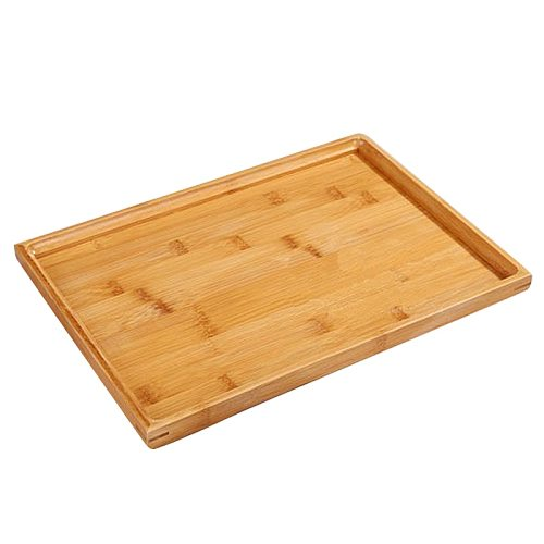 Wooden Serving Tray Kung Fu Tea Cutlery Trays Storage Pallet Fruit Plate Decoration 6 Sizes Japanese Food Bamboo Rectangular