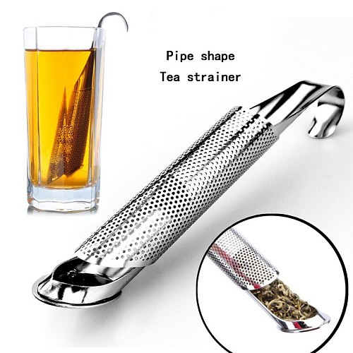 Pipe Design Strainer Amazing Tea Infuser Touch Stainless Steel Tea Tool Strainers A