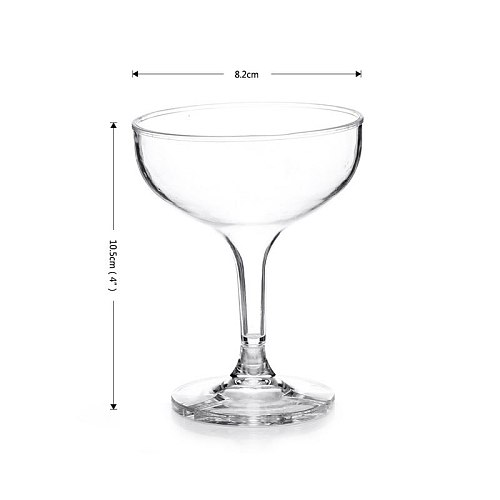 OBR 150mL Acrylic Champagne Cup Flute Unbreakable Glasses Cocktail Beer Wine Party Supplies Dinner Wedding Accessories Bar Tool