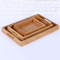 Multi-sizes Wooden Tea Breakfast Serving Trays / Craft Plain Wood Platter