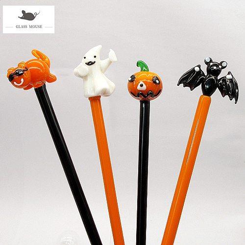 Handmade Cartoon animal Figurine design Halloween party glass cocktail stirring rod drink stirrers Swizzle Sticks Coffee Muddler