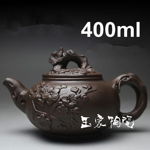 Time-limited Clay Handmade Tea Pot Yixing Teapot 400ml Kung Fu Tea Set Teapots Chinese Ceramic Sets Porcelain Kettle Black