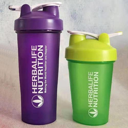 2019 Multi-Colors 600ml Portable Herbalife Nutrition BPA-Free Tumbler Shaker Bottles Cups With Stainless Stell Wire Whirsks
