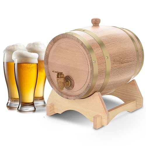 5L Wine Beer Barrel Wood Oak Timber Wine Barrel for Beer Whiskey Rum Port Bar Wine Beer tool Recyclable Barrel Vintage