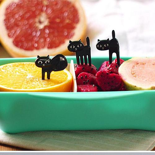 6 Pcs Animal Fruit Forks Food Picks For Kids Kitchen Mini Cartoon Children Snack Fruit Pick Toothpick Bento Lunches Party Decor