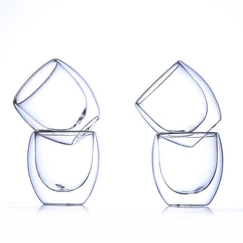 Hot Sale 6pcs Bodum Pavina Design Coffee Wine Glasses Chambord Cup Round Egg Glass Dessert Juice Bar Cafe Mugs Copo Nmd Teacup