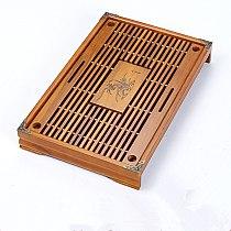 Household Chinese Kung Fu Tea Tray Solid Wood Tea Tray Table Tea 43*28*6cm Kungfu Gongfu tea set