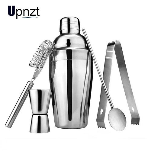 5PCS/Lot 250-750ML Stainless Steel Cocktail Shaker Mixer Wine Martini Boston Shaker For Bartender Drink Party Bar Tools