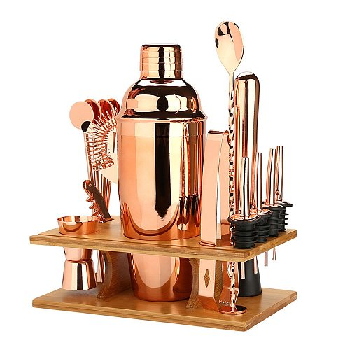 Bar Accessories Wine Shaker Cocktail Barware Drink Bartender Set Jigger Of Mixer Tools 16 Pcs Stainless Steel Kit Home Party
