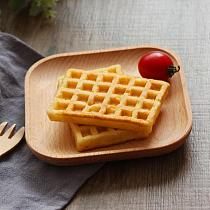 Handmade Wood Square Round Serving Tray Dessert Fruit Plate Baking Kitchen Supplies Soup Tea Cake Snack Tray Tableware