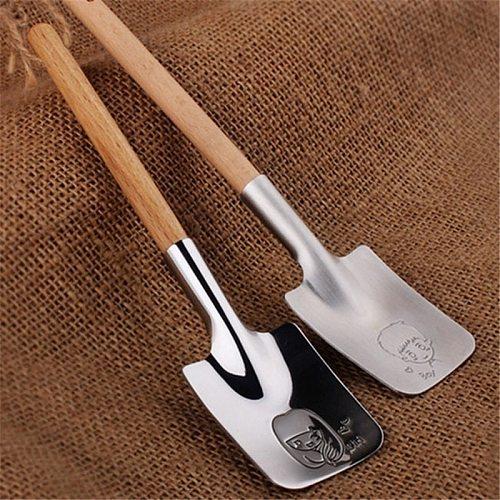1pc Stainless Steel Creative Shovel Spoon Tableware Cutlery Set Shovel Dessert Watermelon Spoon Creative Couple Valentine Gift